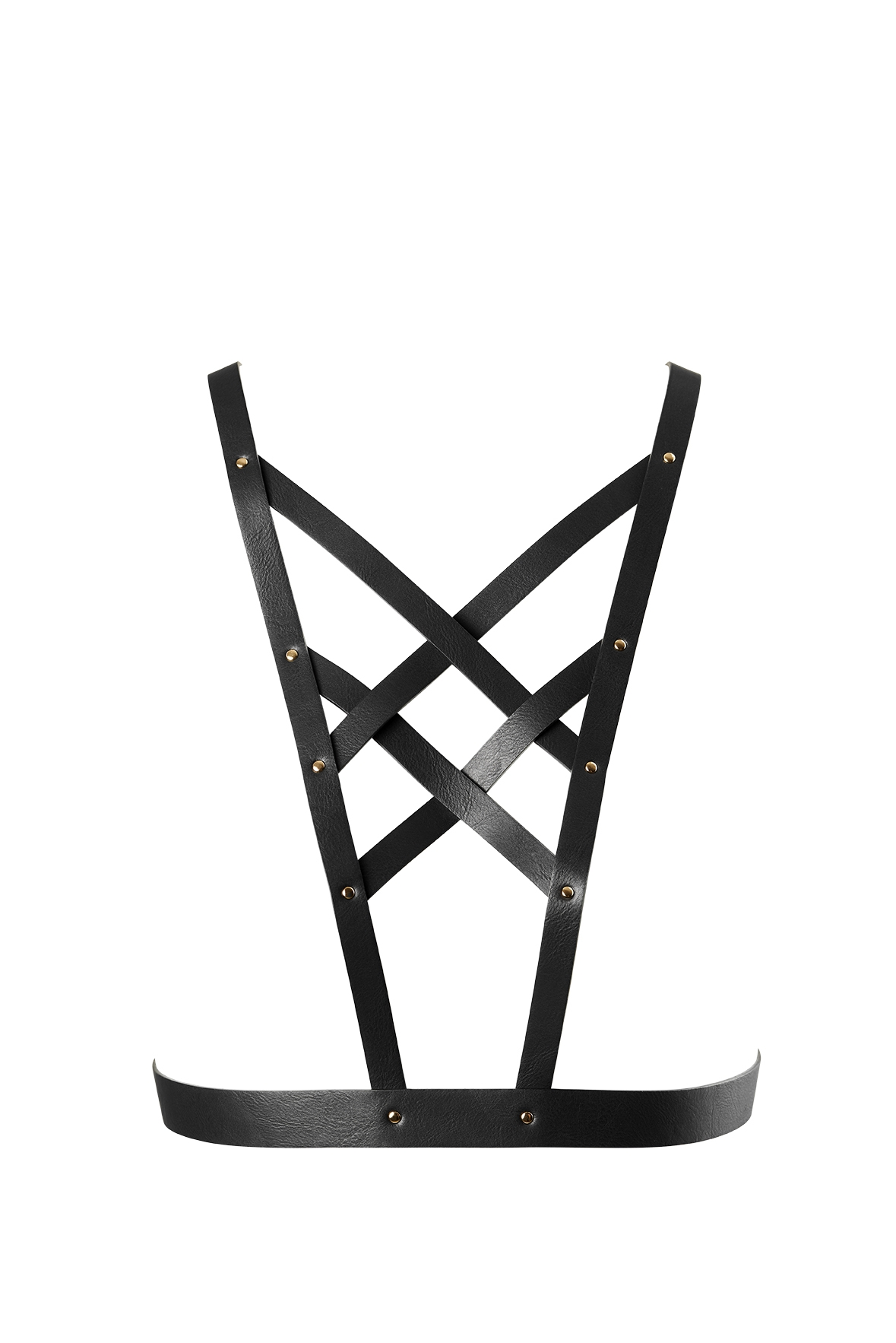 Maze Cross Cleavage Harness - Black