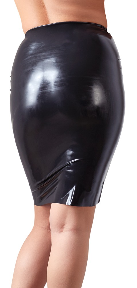 Waist High Latex Skirt