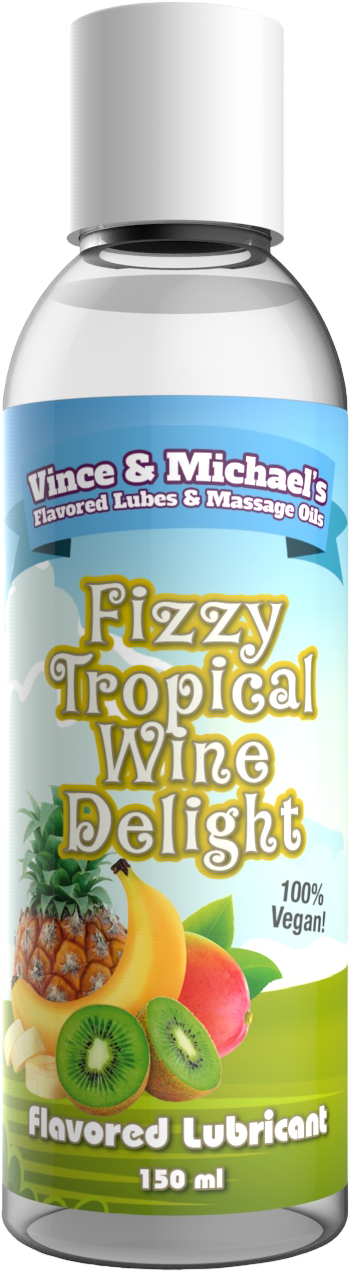 FLAVORED LUBRICANT - FIZZY TROPICAL WINE DELIGHT